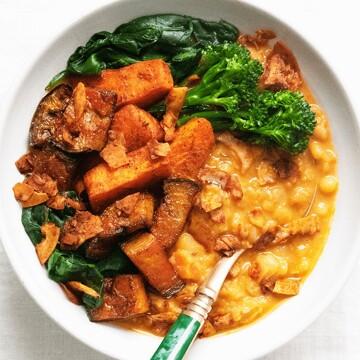 Aubergine + Split Pea Stew