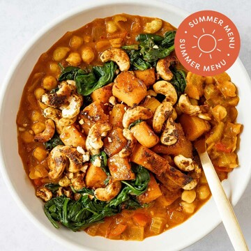 Butternut + Spinach Curry