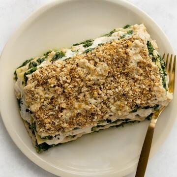 Spinach + Nut Ricotta Lasagne
