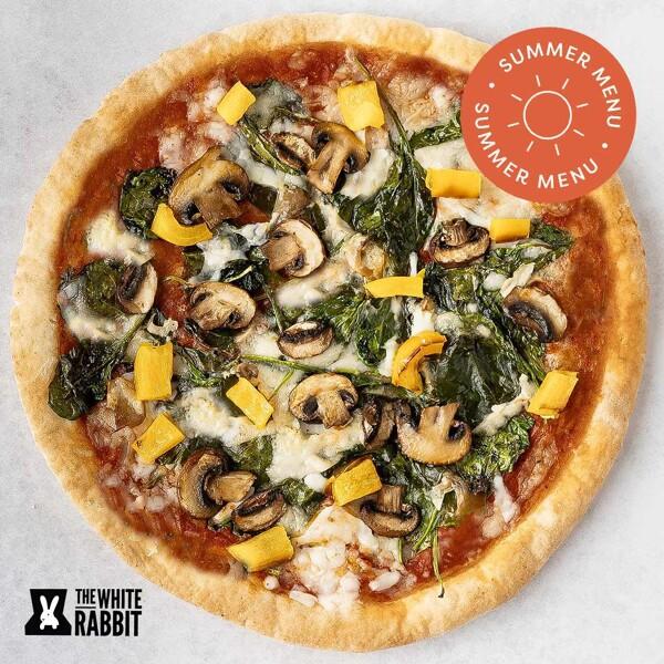 Mushroom & Roasted Pepper Pizza image