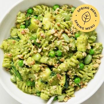 Creamy Pesto Greens